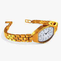 gold watch 3d max