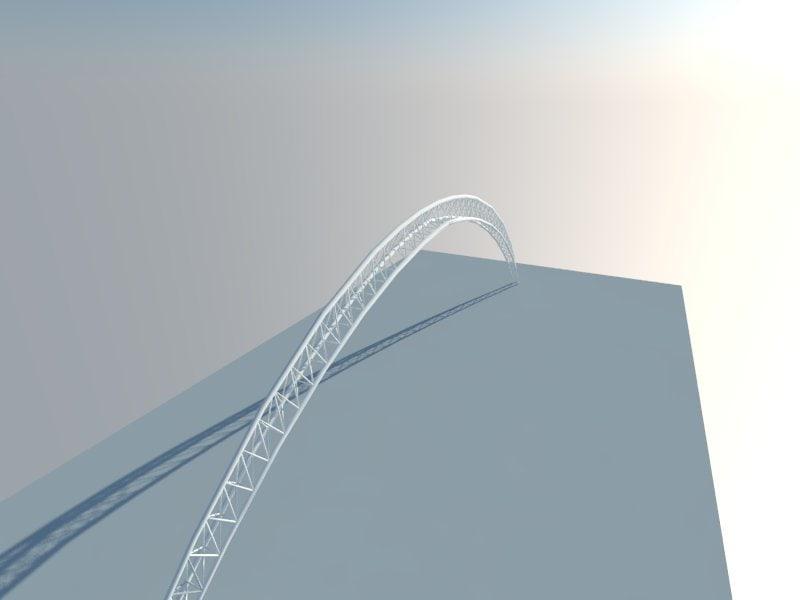 3d model arch truss