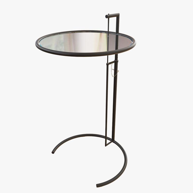 3d coffee table adjustable cigarette model