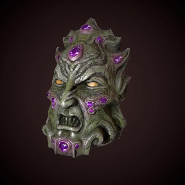 demon head 3d fbx
