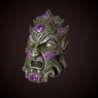 demon head 3d fbx