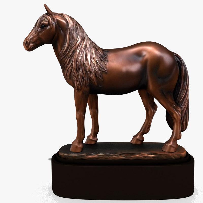 horse statuette 3d model