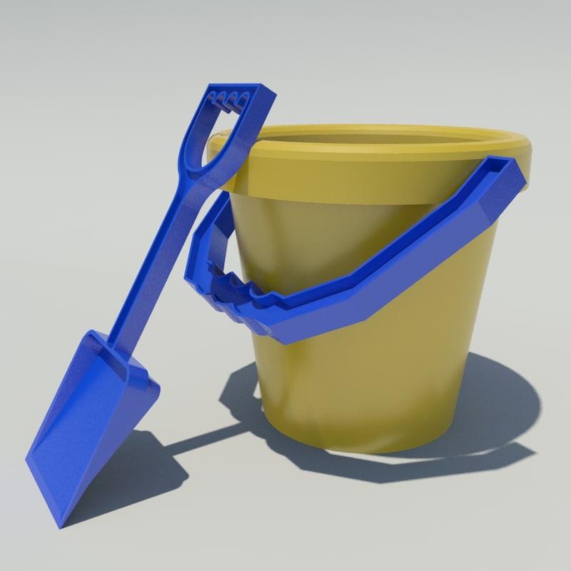 bucket spade 3d model