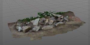 3d photogrammetry rocks garden model