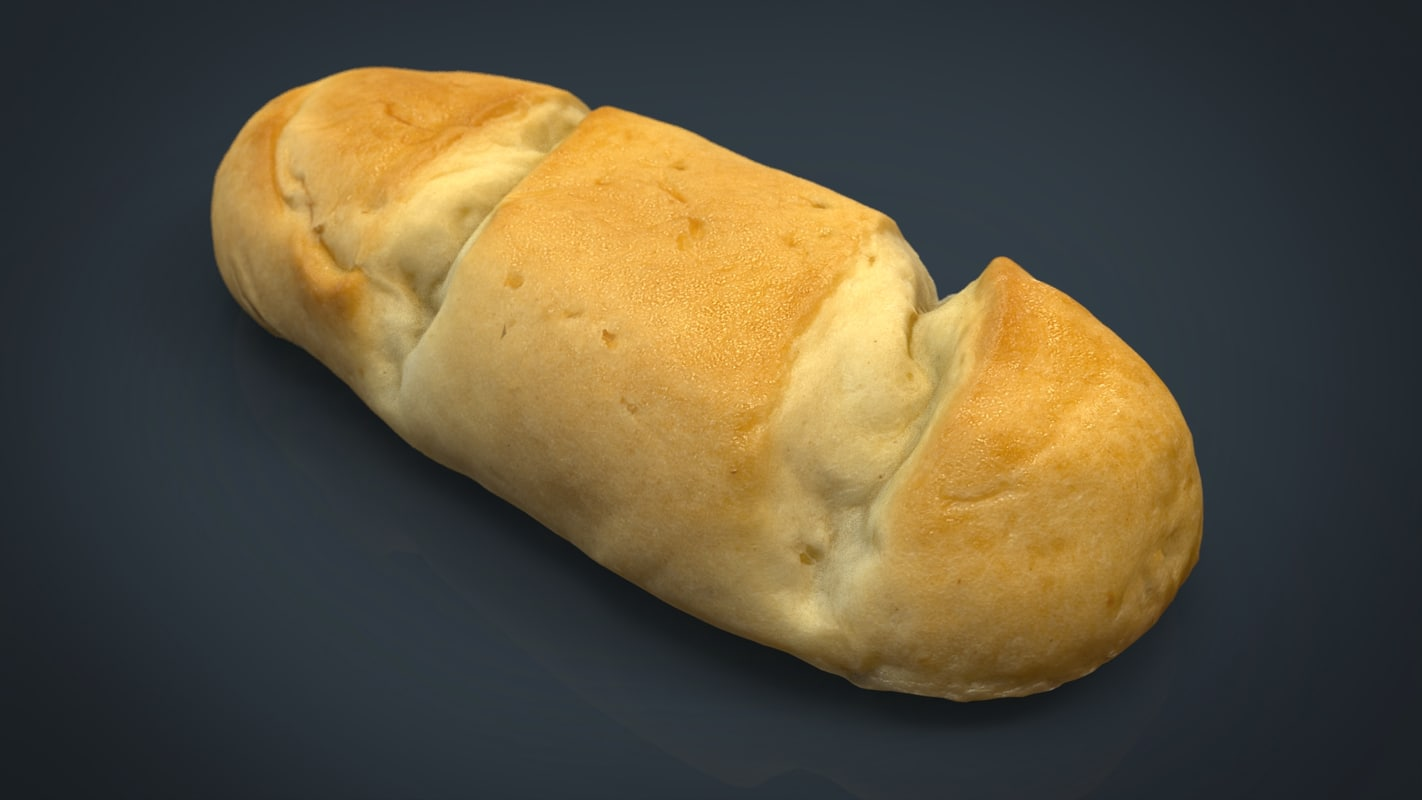 3d model milk bread