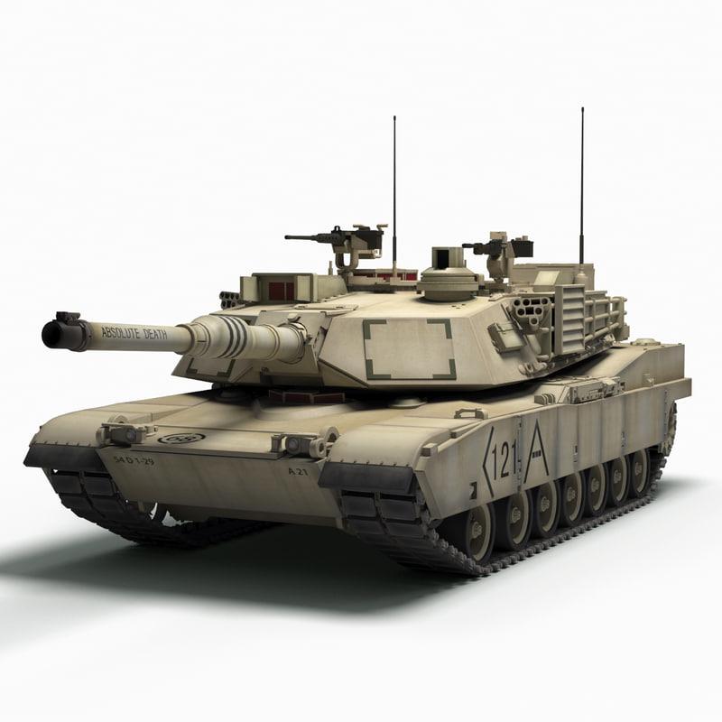 m1a2 abrams battle tank max