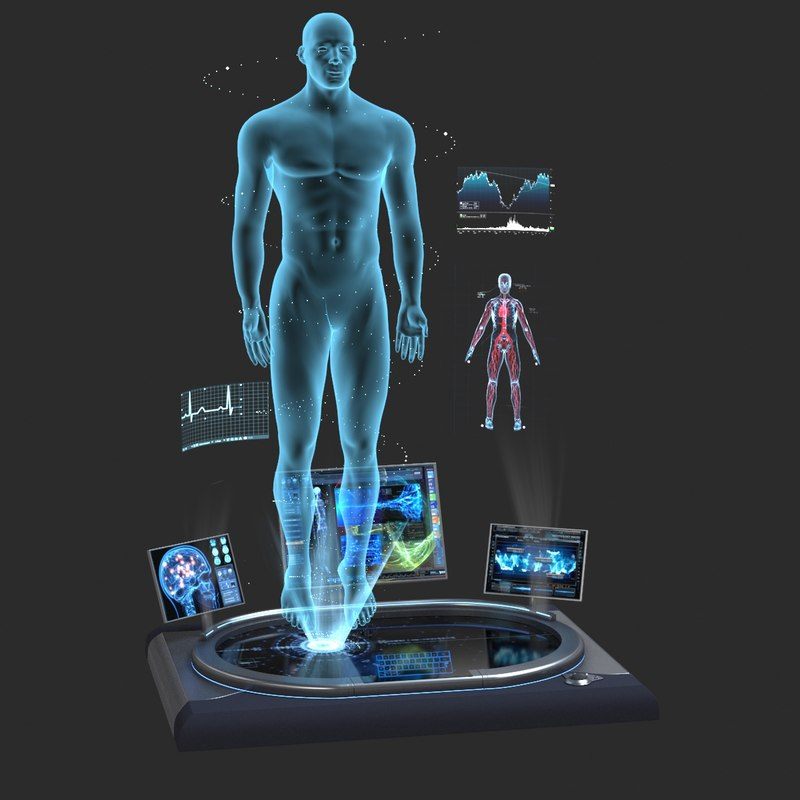 3d holographic station model