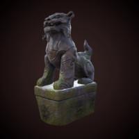 3d tiger statue model