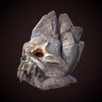 statue skull x
