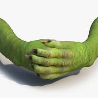 goblin hands pose 4 3d c4d