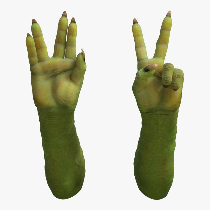 3d goblin hands pose 5