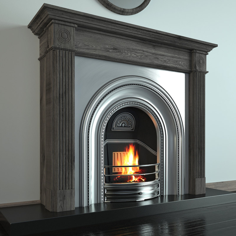 fireplace classical 3d model