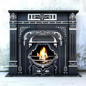 classic fireplace leinster adams 3d model