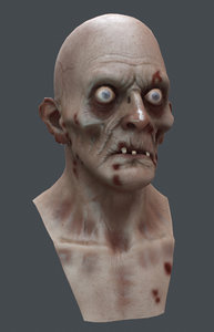 zombie head marmoset 3d model