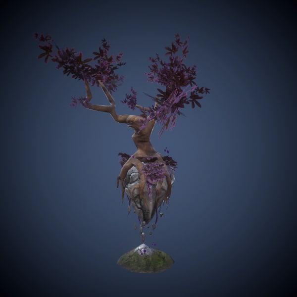3d model flying tree