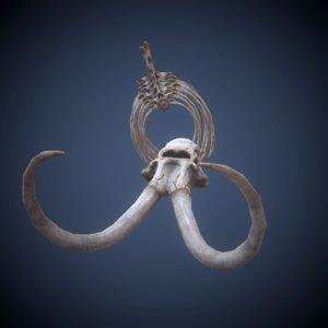 mammoth skeleton fbx