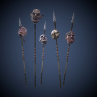 Heads on spears(pack)