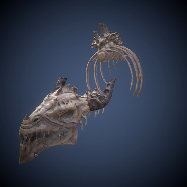 3d skeleton dragon model
