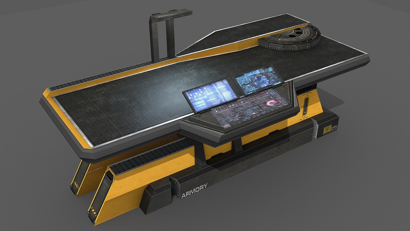 3d model sci fi repair table