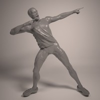 athlete usain bolt print 3d model