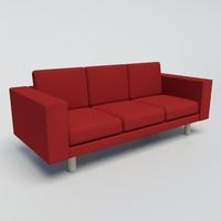 3d contemporary sofa model