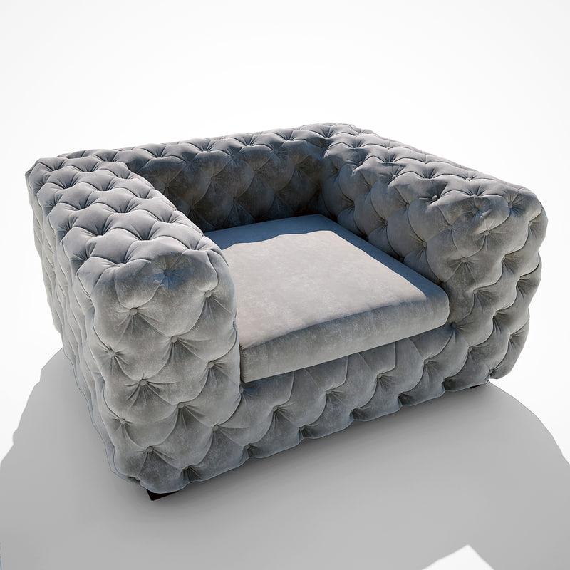 3d model kare design chair desire