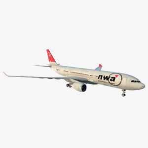 airbus a330 p2f northwest c4d