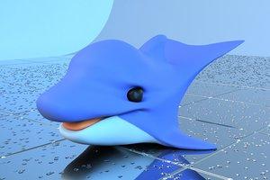 3d obj dolphin bath toy