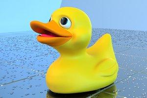 3d model of duck toy