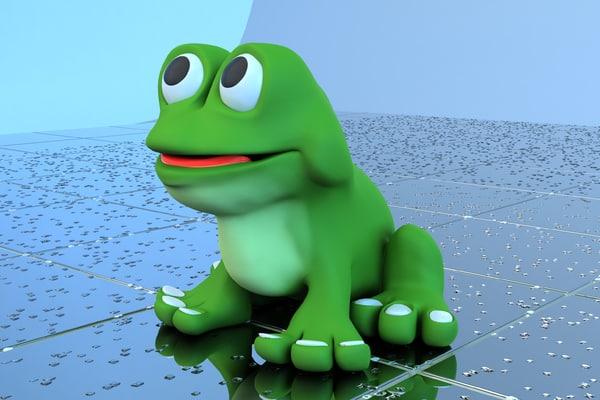 frog bath toy 3d dxf