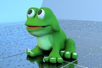 frog bath toy 3d dxf