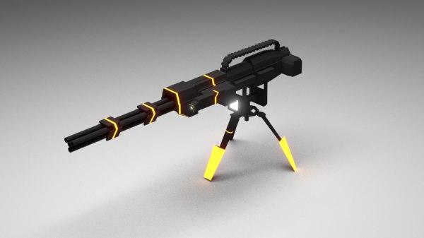 3d model sentry gun