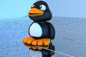penguin bath toy fbx