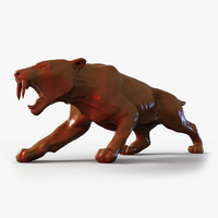 obj scan sabre tooth tiger