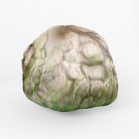 3d model of stone rock
