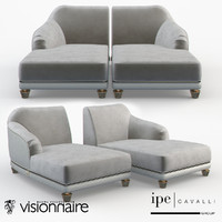 couch decorative 3d model