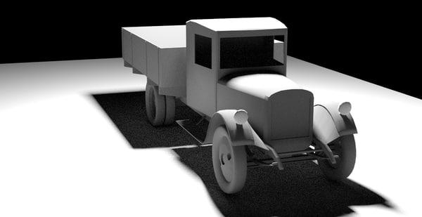 zis-5 truck 3d max