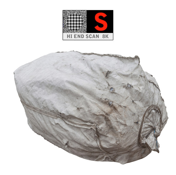 3d large bags garbages 8k model