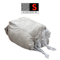 large bags garbages 8k 3d obj