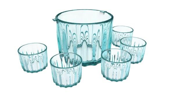 3d fbx ice bucket glass