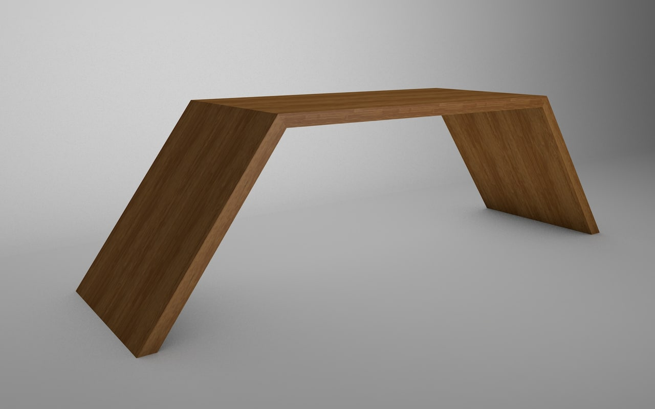 3ds simple table wood
