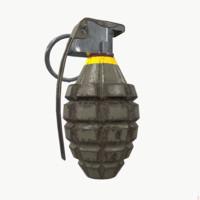 mk2 hand grenade 3d max