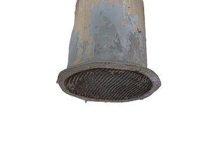 3d model of old ventilation chimney