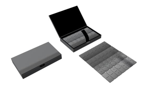 3d domino box metal