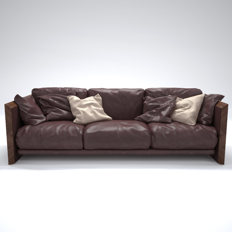 soft wood sofa riva 3d max