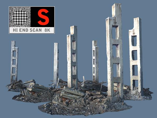 demolished 8k 3d 3ds