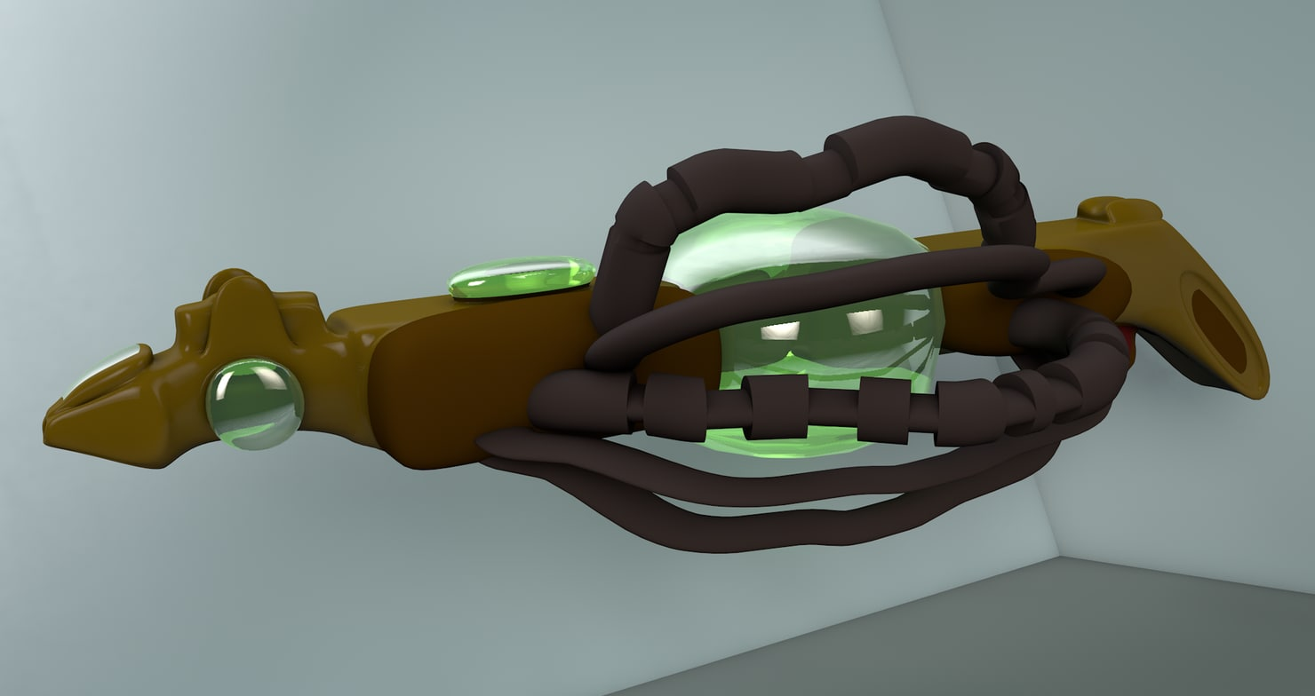 future plasma gun c4d