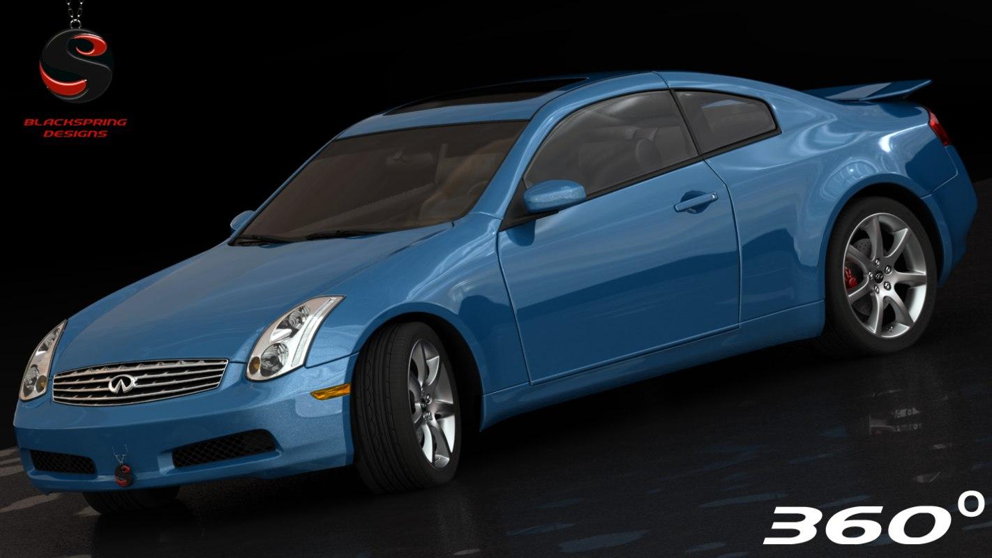 infiniti g35 2002 3d model
