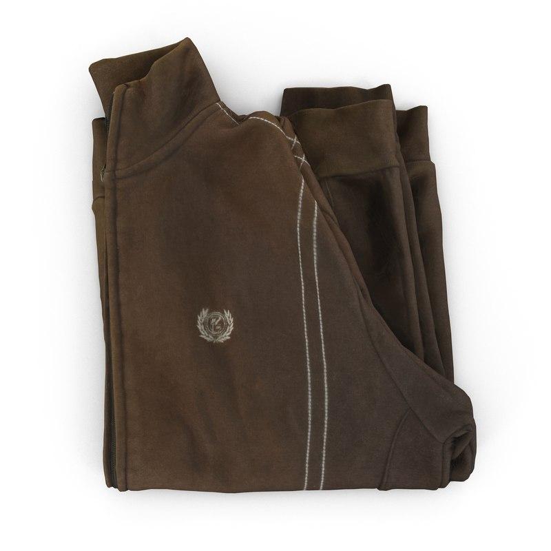 folded jacket 3d model