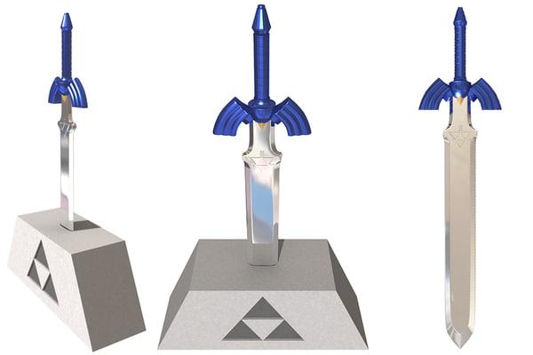 master sword 3d max